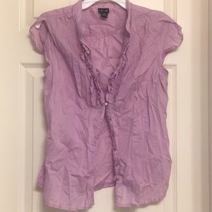lavender willi smith button up blouse
